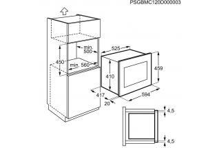 Four Micro Ondes Encastrable Electrolux Ems26004ok Micro