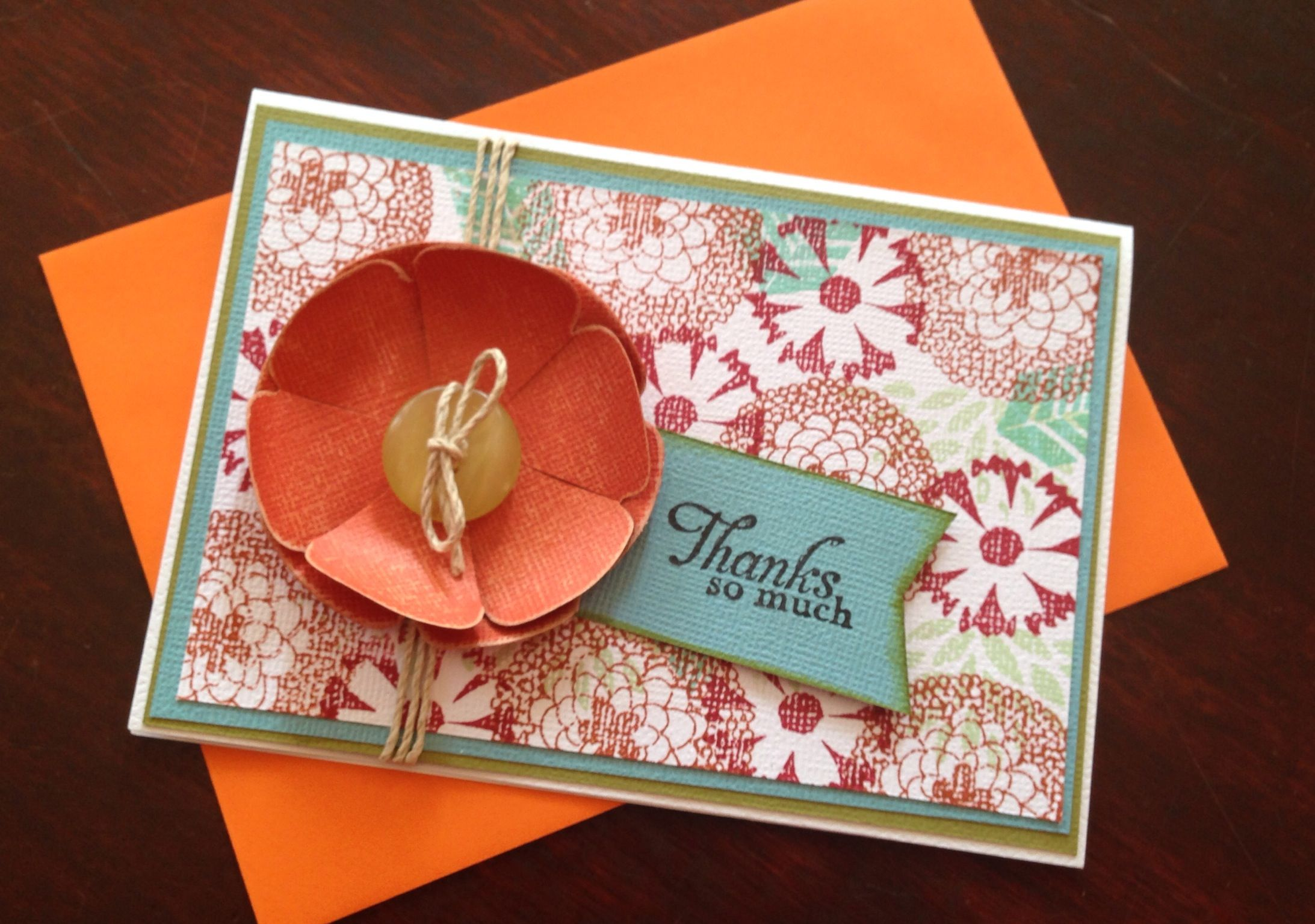 Thanks so Much Card - Stampin Up Sale-A-Bration free stamp set.