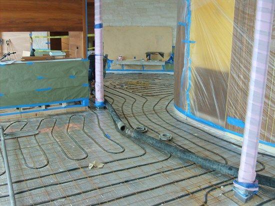 Radiant Floor Heating How To Heat Concrete Floors Radiant Floor Heating Radiant Floor Heated Concrete Floor