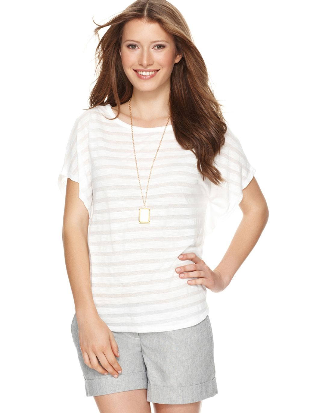 The Limited Ghostly Stripe Top, $22.14