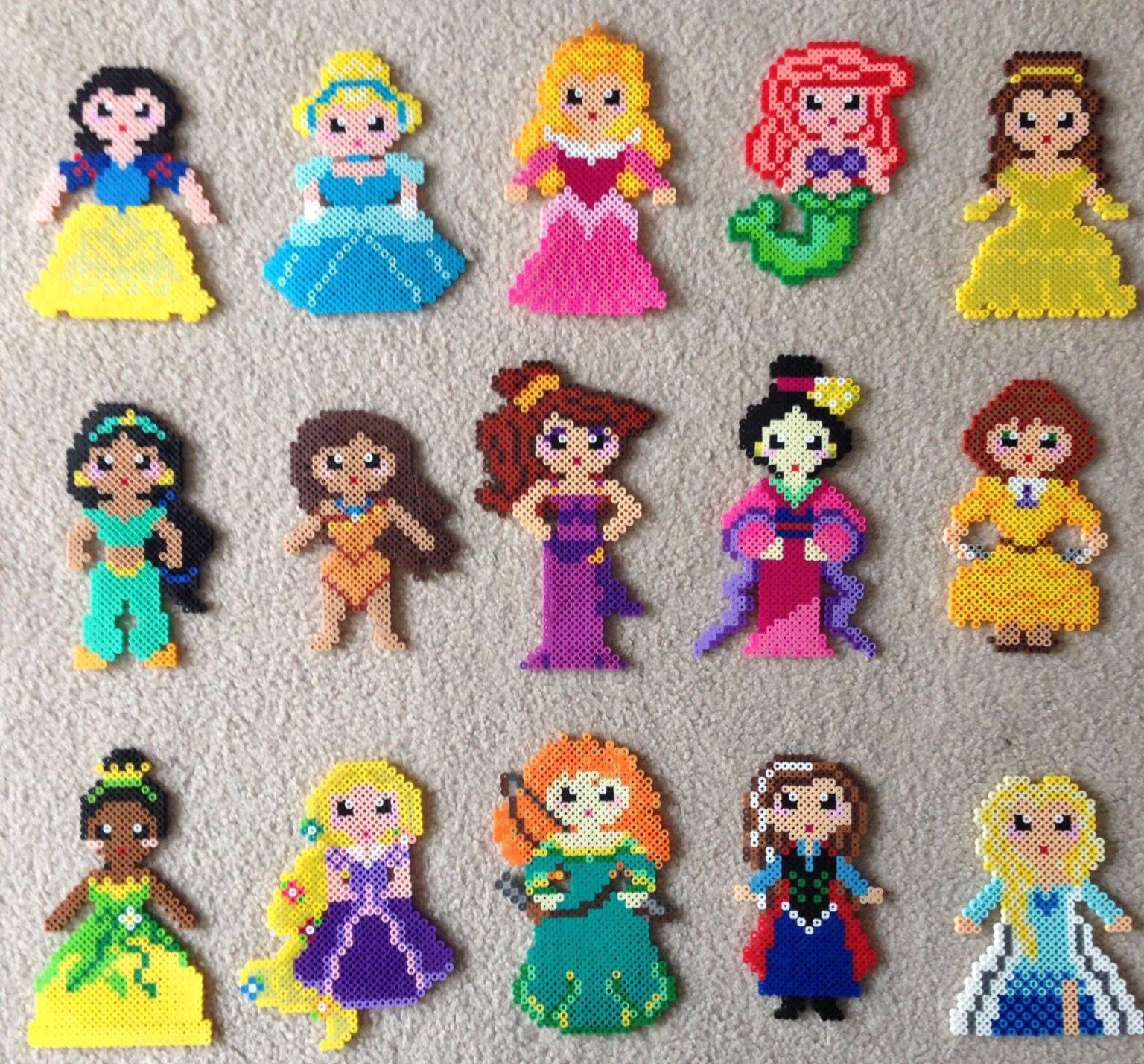 Princess Beads: Hama Beads Disney, Hama