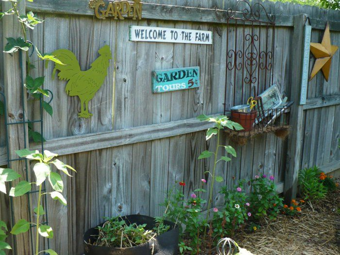 Gartenideen Gartenzaun Dekorieren Hinterhof Gestalten