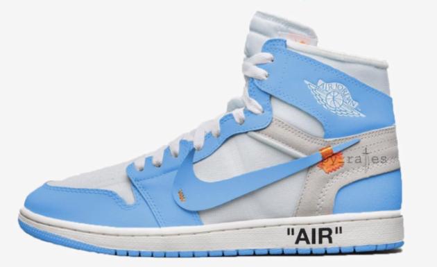 OFF-WHITE x Air Jordan 1 Powder Blue (UNC)To Release In June