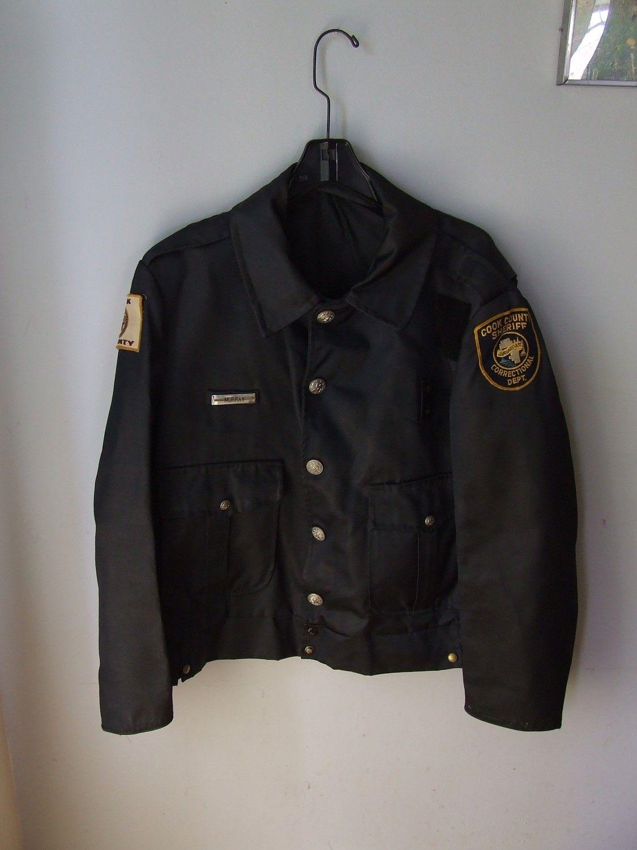 Vintage Police Uniform Jacket Chicago Cook County Sherrif Authentic Mens Medium Large Police Uniforms Jackets Uniform Fashion