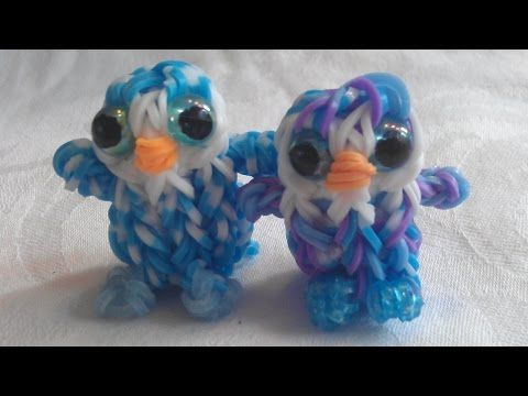 "▶ Rainbow Loom Nederlands: Ty Beanie Boo knuffel ""Ice cube"" 3D (original design) - YouTube"