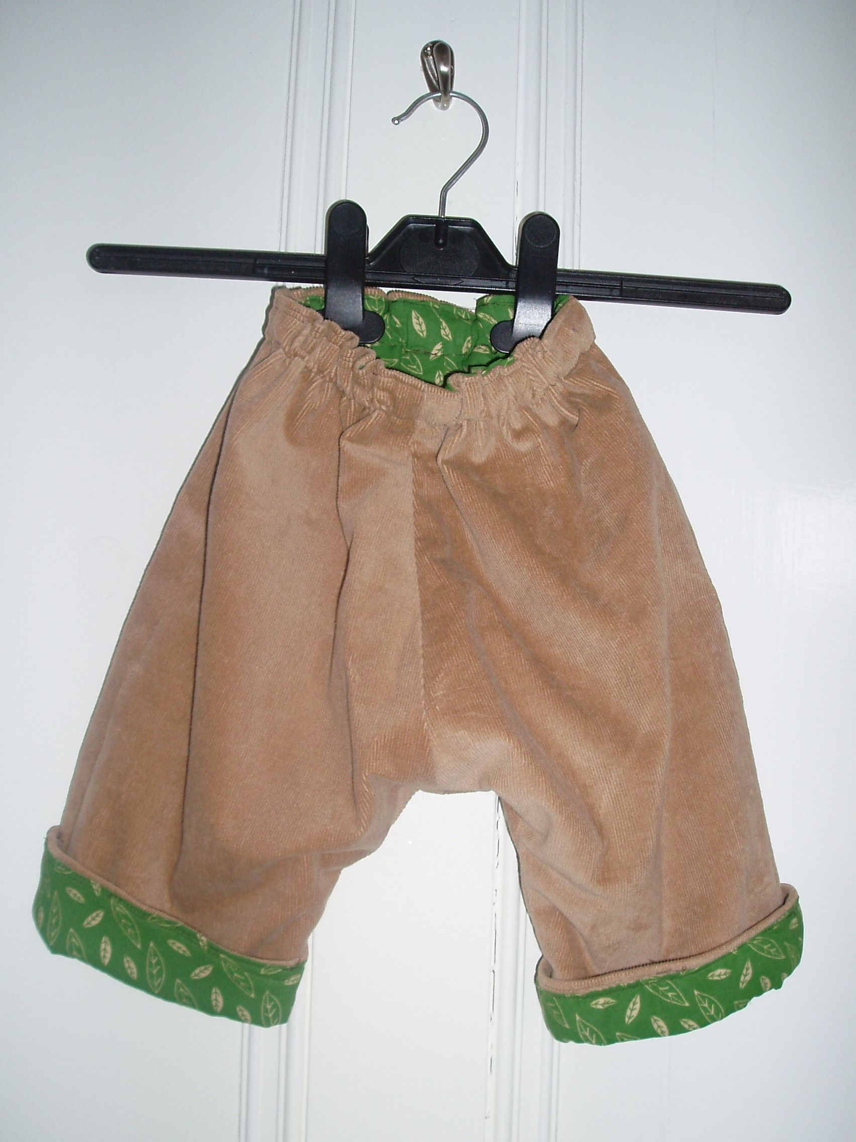 Lined pants-with nappy room!