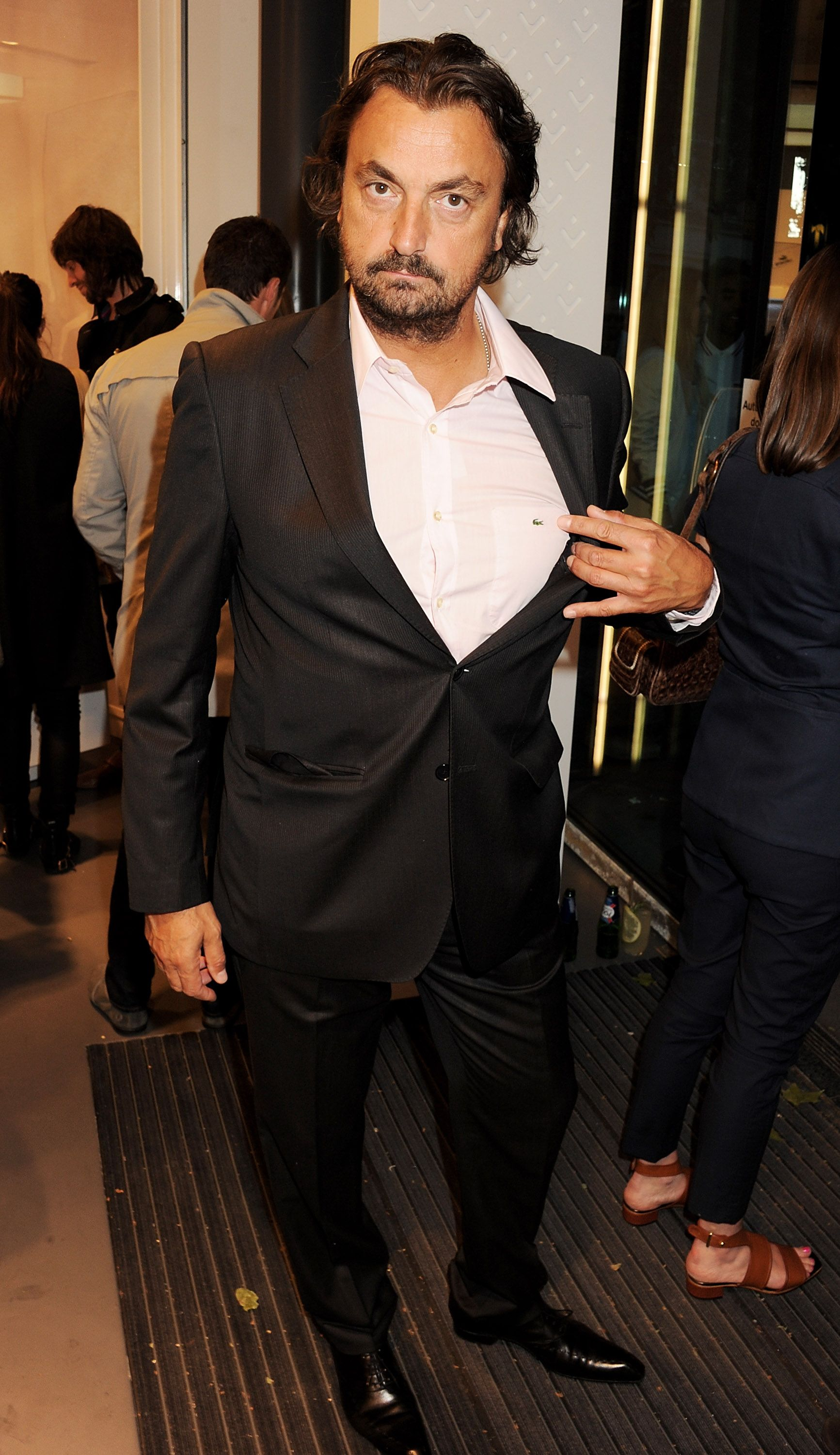1109fcbbed49b6 Henri Leconte   the opening party of the largest Lacoste store in the  world