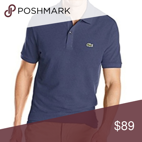 01213a4981a NEW! LACOSTE DARK BLUE POLO SHIRT! LACOSTE POLO SHIRT! New With Tags ...