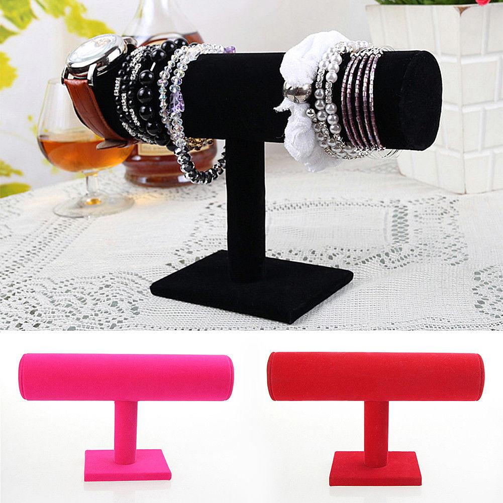 040cf62e858  3.64 - Jewelry Stand Holder Velvet T Bar Bracelet Necklace Display  Organizer Rack  ebay  Fashion