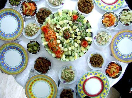 les différentes salades