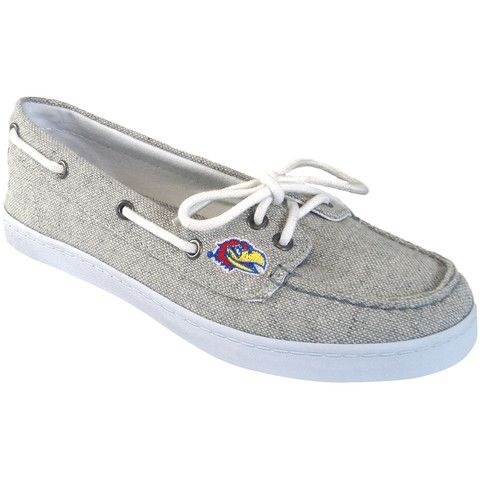 Get your NCAA boat shoes before your college classes starts! #kansas  www.renimp.com