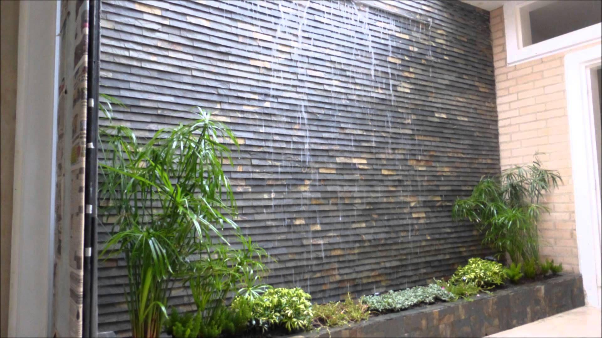 Cascada de pared home pinterest cascada de pared - Fuentes para patios pequenos ...