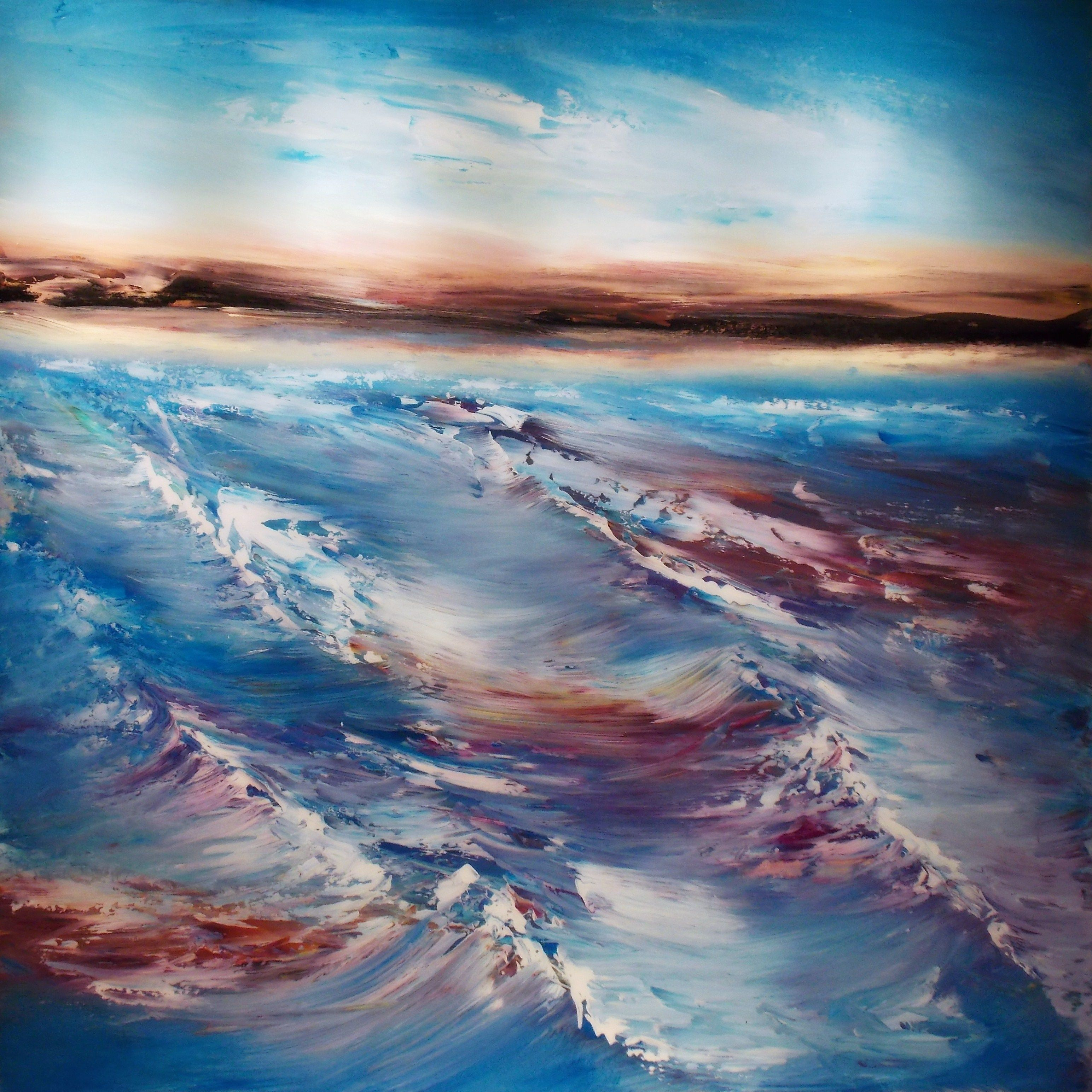 """Abstract Painting """"Surf"""" by Jeffrey Bisaillon"""