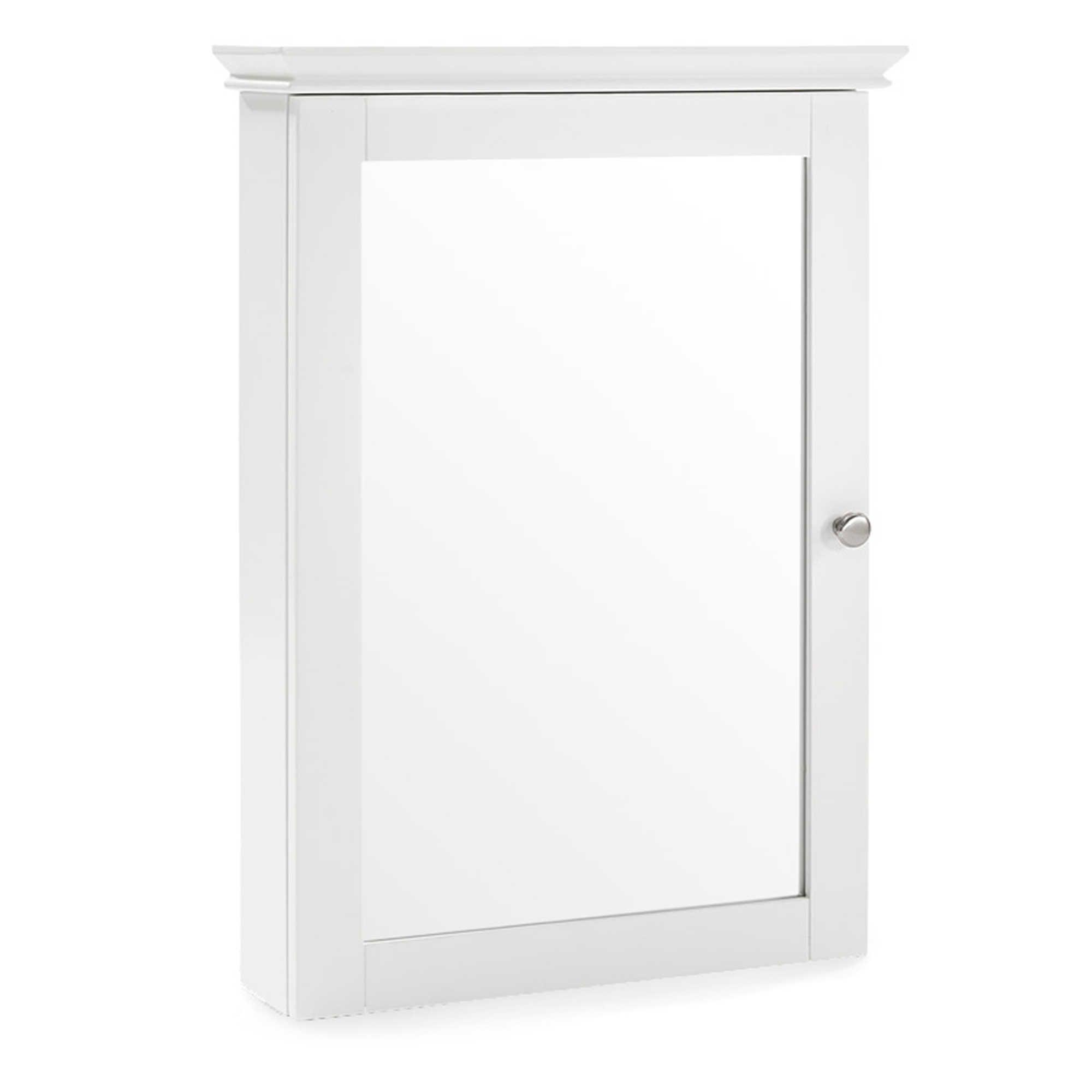 Crosley Lydia Mirrored Wall Cabinet In White Mirror Wall Bathroom Wall Mounted Medicine Cabinet Mirror Wall