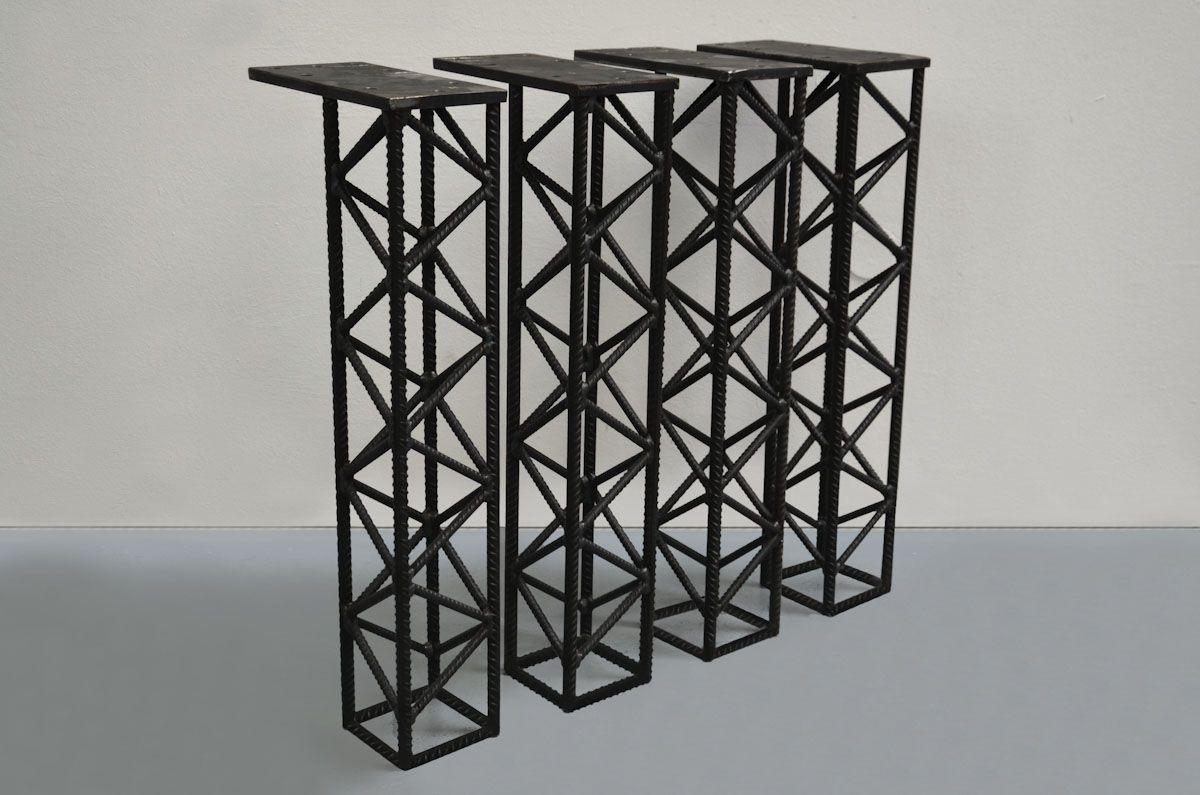 146No 4er Set Tischbeine aus Baustahl Fundament | aaa | Pinterest ...