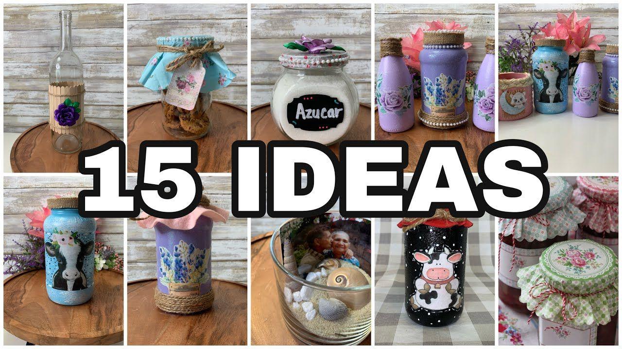 15 Ideas Para Decorar Tu Cocina Con Frascos De Vidrio Easy Mason Jars Cr Frasco De Vidrio Frascos Decoracion De Frasco
