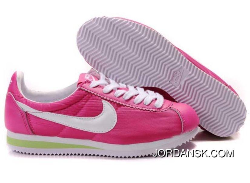 Nike Cortez Nylon Vintage Shoes Mens Magenta White Magenta Discount ... 6b20790858
