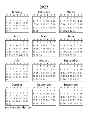 Make your own 2021, 2022, or 2023 printable calendar PDF ...