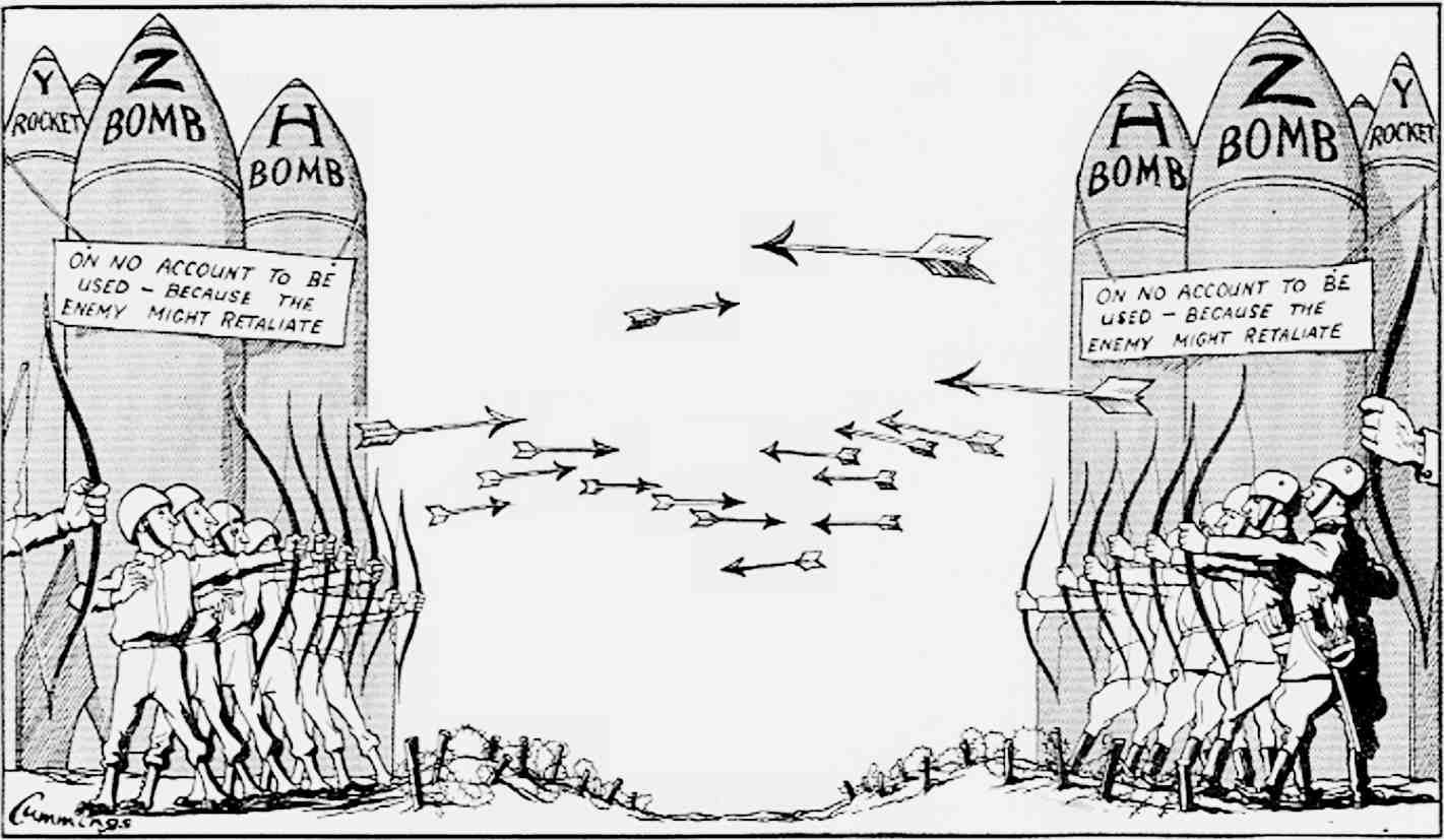 Political Cartoon Of The Cold War Representing The Use Of