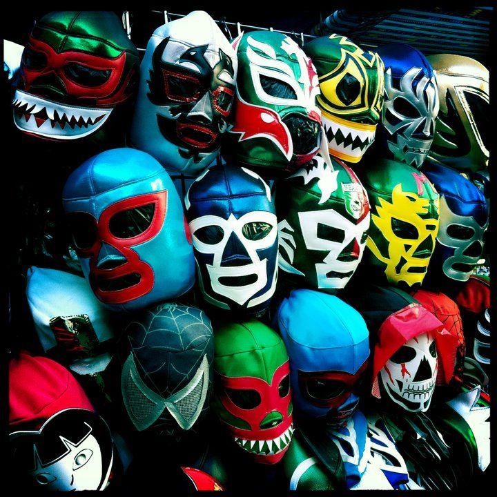 Wrestling masks, Mexico www.selectlatinamerica.co.uk