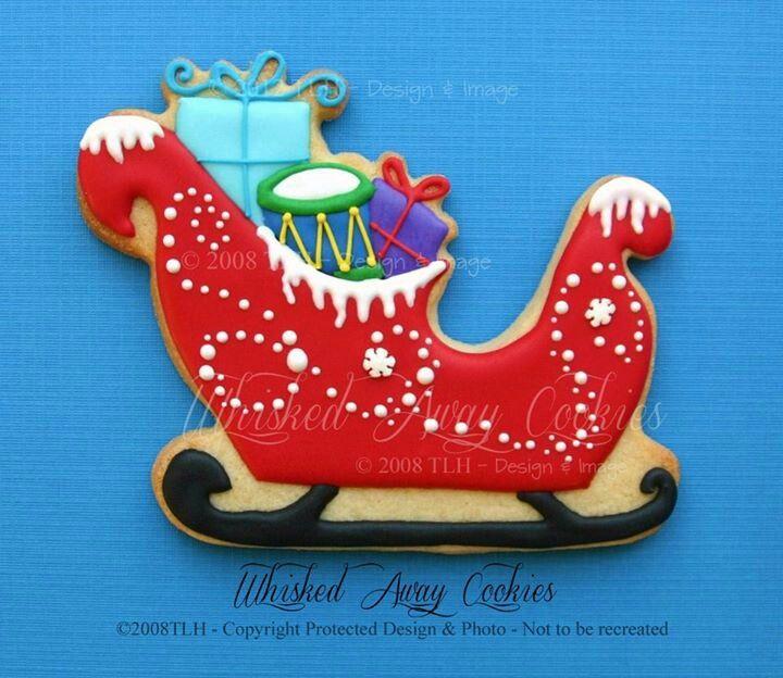 Sleigh Cookie W O Presents Cookies12a Christmas Christmas