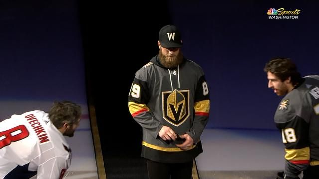 ed9e0f65345aed Bryce Harper dropped the first puck at Saturday's Golden Knights game  against the Caps