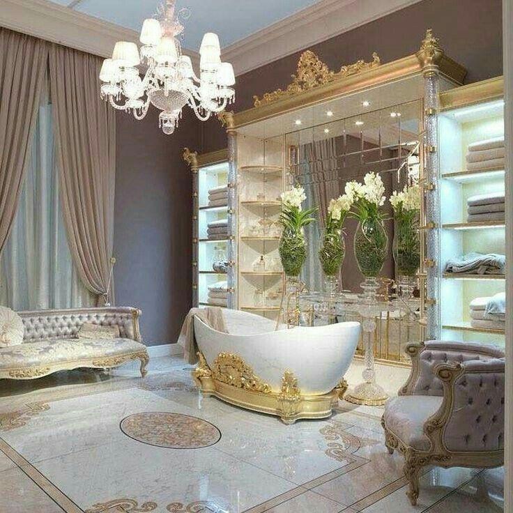 Romantic Bathroom Lighting Ideas: I'd Never Come Out The Bathroom! #bling #bathroomdreams