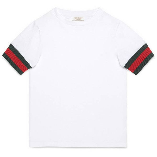 a272b1c7c2c Gucci Children S Cotton T-Shirt With Web ( 115) ❤ liked on Polyvore  featuring boys