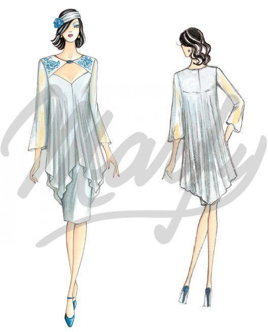 The Marfy hand made pre-cut sewing pattern :: Sewing pattern 5291 ...