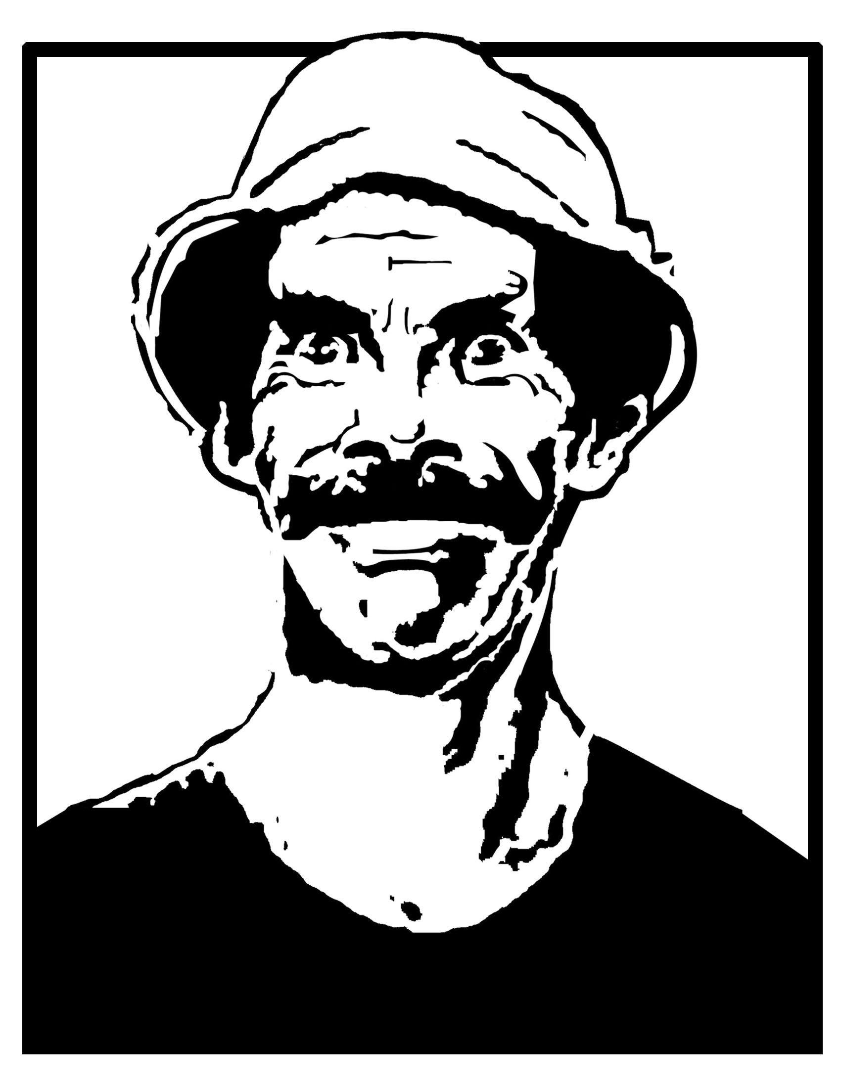Stencil Chaplin by Hctor Hernndez via Behance Tattoo