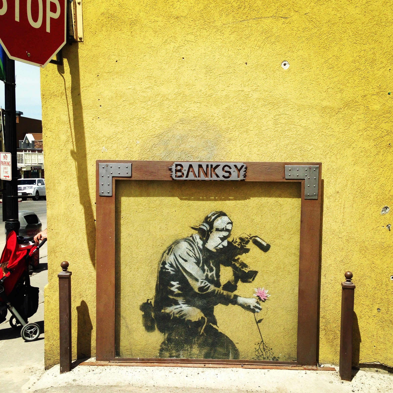 Banksy Street Art in Park City, Utah | Artsy Fartsy | Pinterest ...