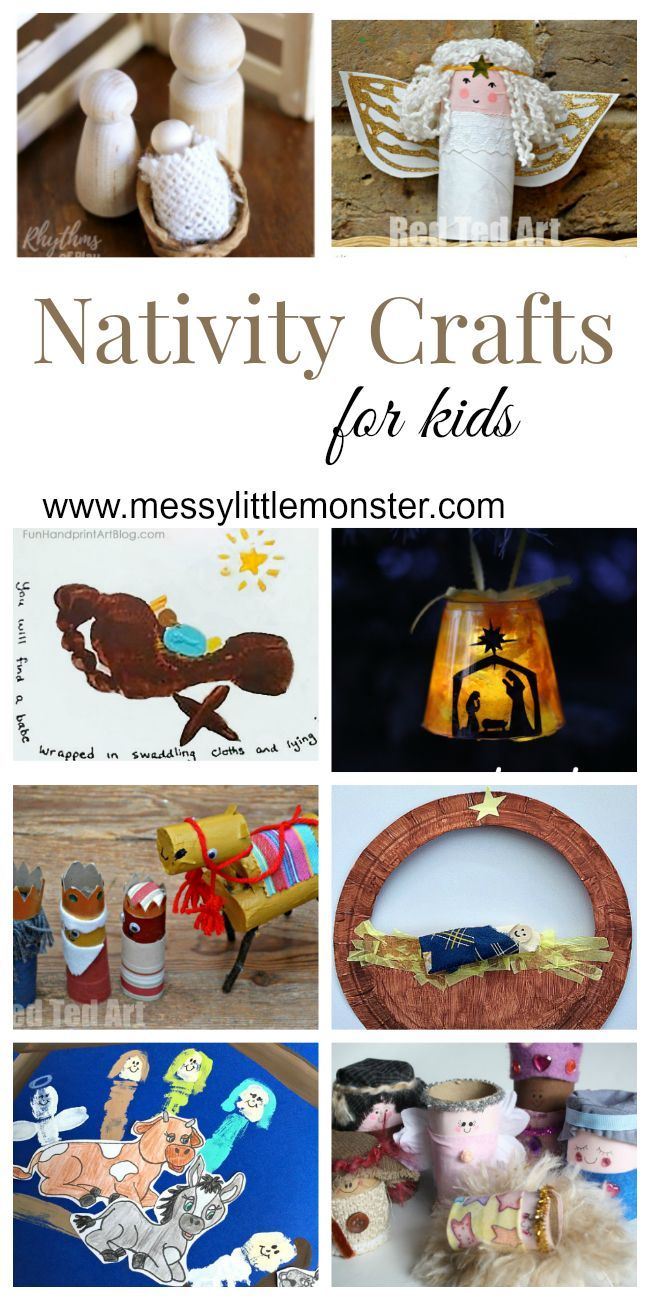Nativity Christmas Crafts for Kids is part of DIY Kids Crafts For Christmas - Nativity Christmas crafts for kids  A collection of nativity handprint crafts, nativity ornaments, toilet roll nativity figures and nativity scenes  Teach the true meaning of Christmas to Preschoolers, toddlers and older kids