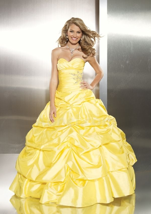 yellow ball gown | Everything YELLOW | Pinterest | Recital, Prom ...