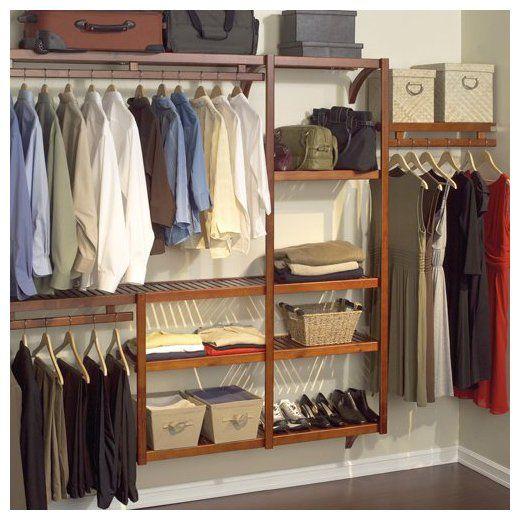 Standard Closet Shelving System, Red Mahogany   Casa.com