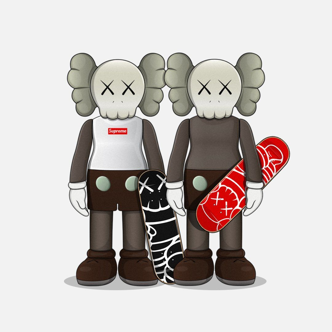 lit art image by HYPEHAWK k Kaws wallpaper, Kaws iphone