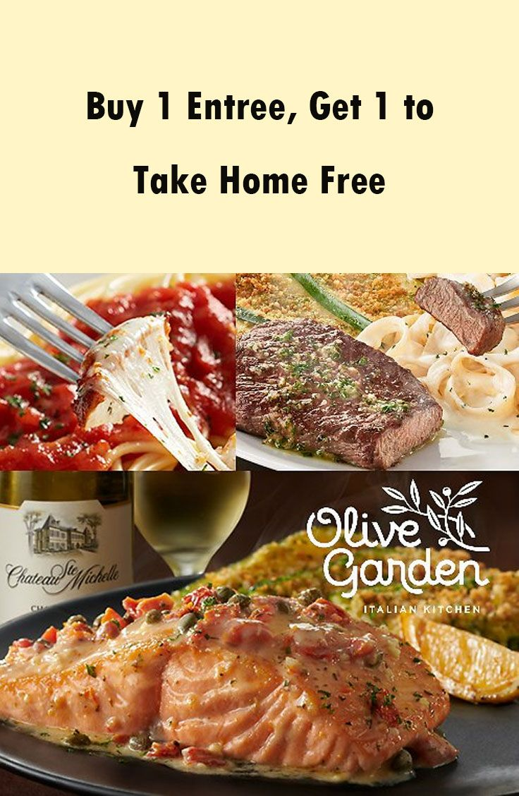 Buy 1 Entree, Get 1 to Take Home Free | Food Coupons, Deals, Recipes ...