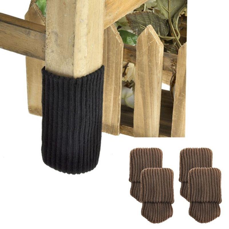 4pcs Chair Leg Socks Cloth Gloves Floor Protection Knitting Wool Socks Anti Slip Table Furniture Feet Sleeve Cover Pro Chair Legs Furniture Legs Furniture Feet