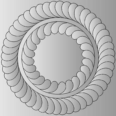 Feathered Wreath - Free quilting motif | Quilt Stitches 5 ... : free quilt stencils - Adamdwight.com