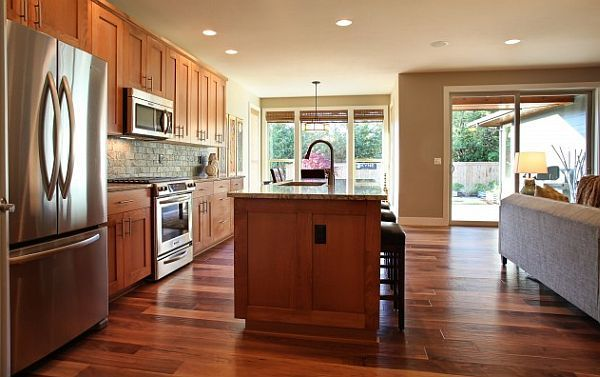 Wooden Kitchen Flooring Ideas 1000 Images About Hardwood Kitchen Flooring  On Pinterest Kitchen Floors Hickory Hardwood ...