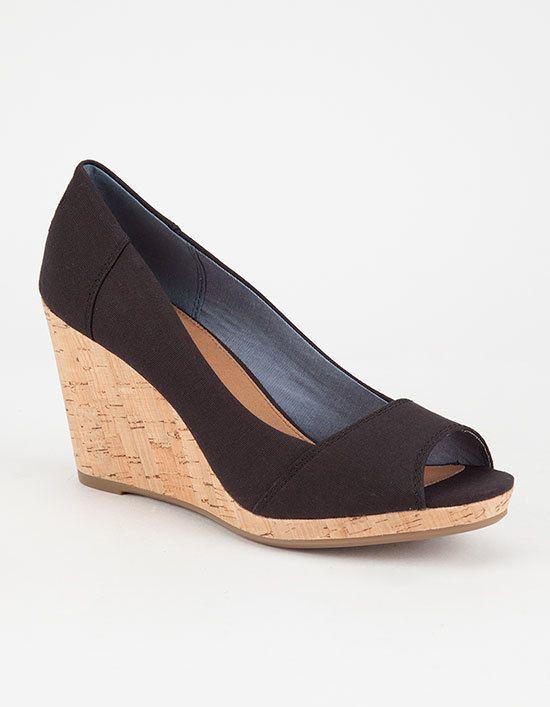 c3fc83efe37 Toms Stella Peep Toe Wedges | Products in 2019 | Peep toe wedges ...
