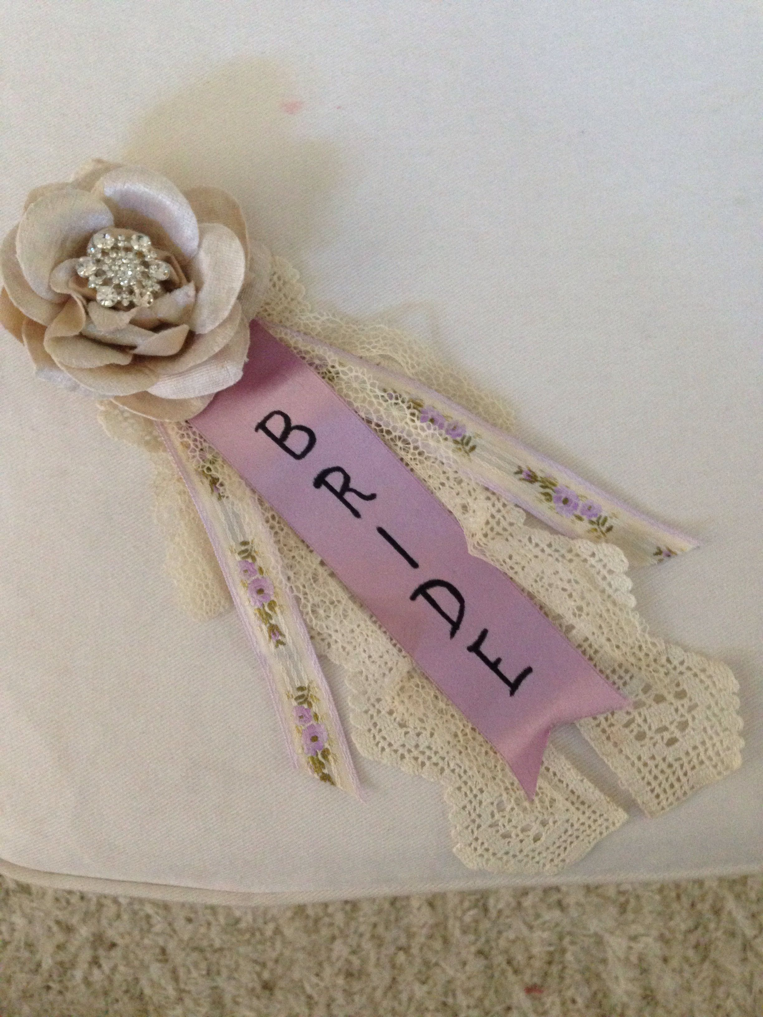 bridal shower corsage whipped this up for a customer