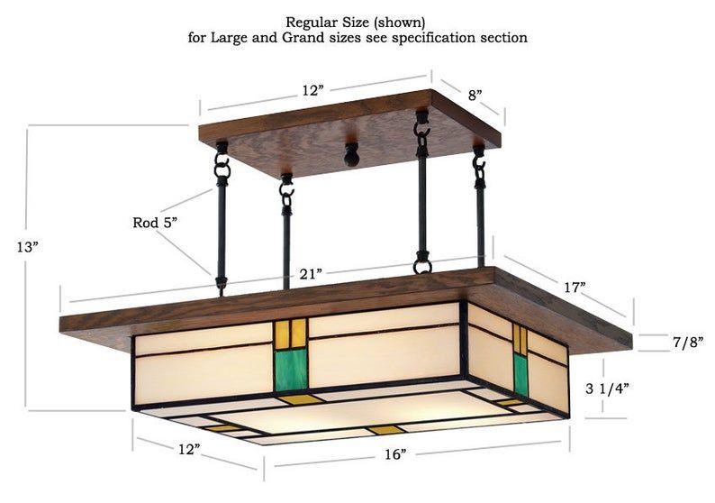 Dining Room Light Fixture Mission Style Vintage Style Glass Etsy In 2020 Dining Room Light Fixtures Craftsman Lighting Vintage Chandelier