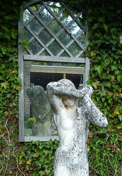 Lady In The Garden Garden Statues Bird Bath Garden My Secret Garden