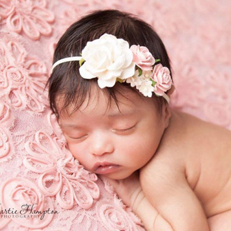 Bébé Serre-tête Avec Fleur Photo Nouveau-né Photographie accessoires coiffure fleur
