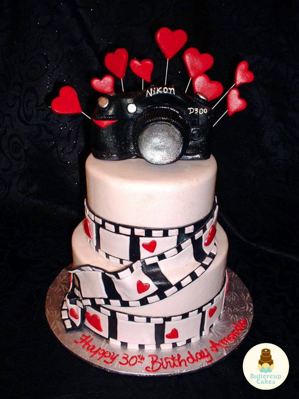 Nikon Camera Photography Birthday Cake