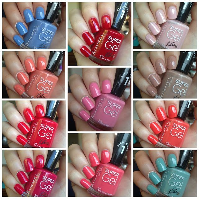Rimmel London Super Gel Collection - NAILS BY CHARTS