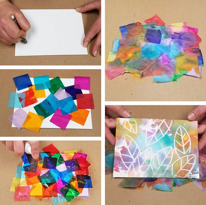 Tissue Paper Painting - Bleeding Color Art Activity