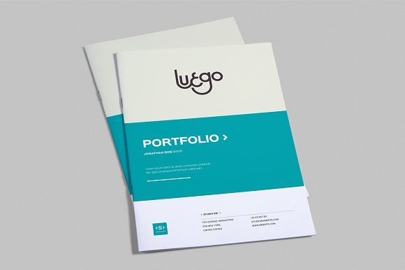 Indesign Portfolio Template By Meenom On Creativemarket Awesome
