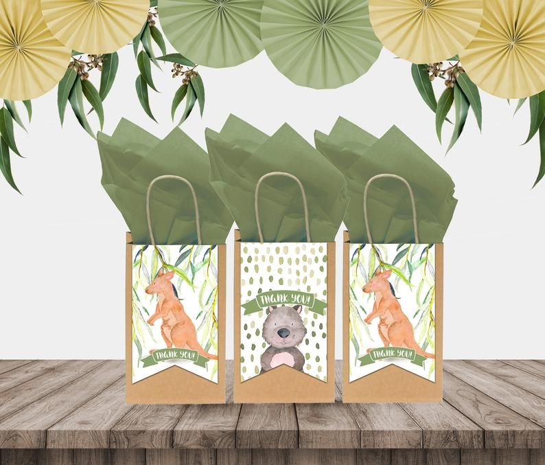Australian Wildlife Thank You Tags in 2020 Party favor