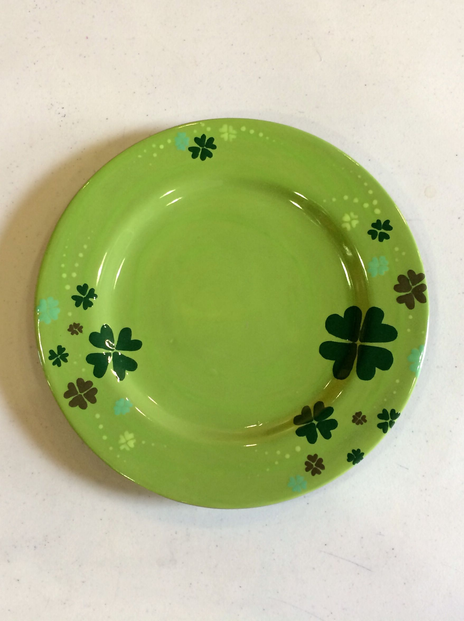 Creativity Art Studio - pick u0026 paint ceramics - Shamrock St. Patricku0027s Day ceramic plate & Creativity Art Studio - pick u0026 paint ceramics - Shamrock St ...